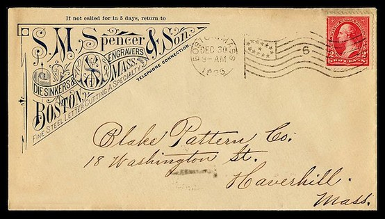 vintage envelopes from the early 18