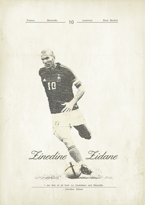 Zoran Lucic Created A Pretty Big Collection Of Vintage Styled Posters On Soccer Legends Spanning From Current Stars To Way Back In The Day